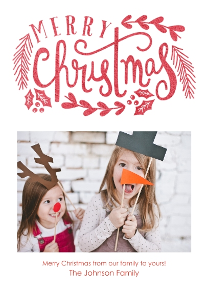 Christmas Photo Cards 5x7 Cards, Premium Cardstock 120lb with Elegant Corners, Card & Stationery -Enchanted Wishes