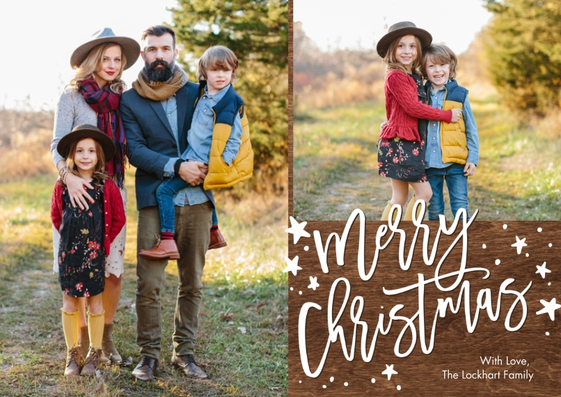 Christmas Photo Cards 5x7 Cards, Premium Cardstock 120lb, Card & Stationery -Christmas Simple Stars by Tumbalina