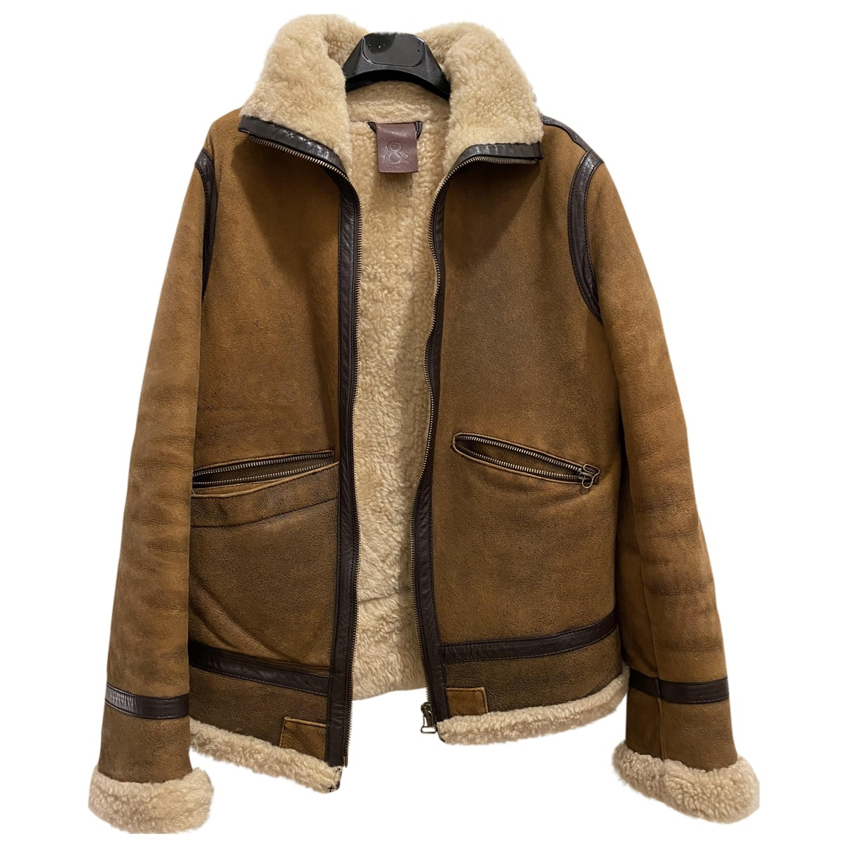 D&g \N Brown Shearling Leather jacket for Women 40 IT