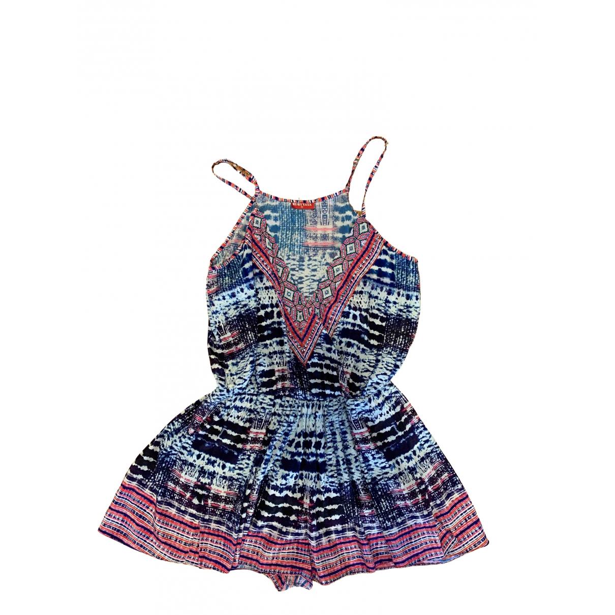 Non Signe / Unsigned Hippie Chic Kleid in  Bunt Polyester