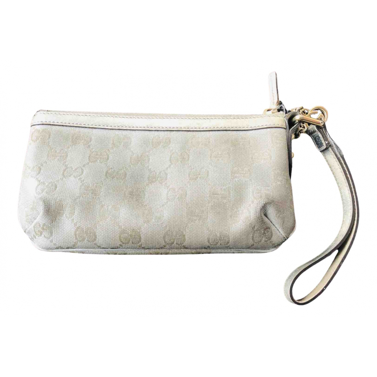 Gucci \N Clutch in  Silber Leinen