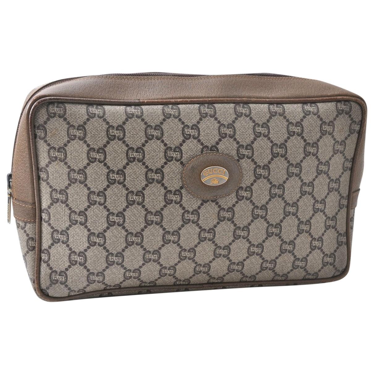 Bolsos clutch en Plastico Marron Gucci