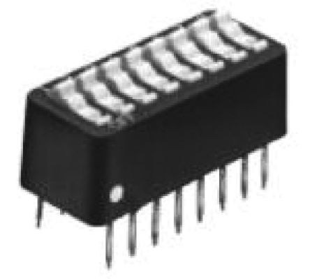 TE Connectivity 4 Way Through Hole DIP Switch SPST, Rocker Actuator