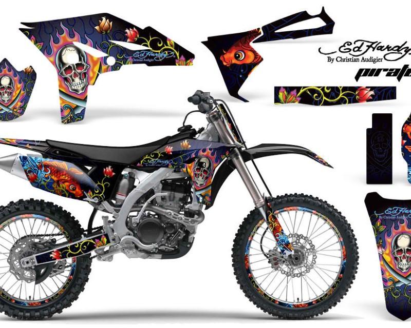 AMR Racing Graphics MX-NP-YAM-YZ250F-10-13-EDHP U Kit Decal Sticker Wrap + # Plates For Yamaha YZ250F 2010-2013 EDHP BLUE