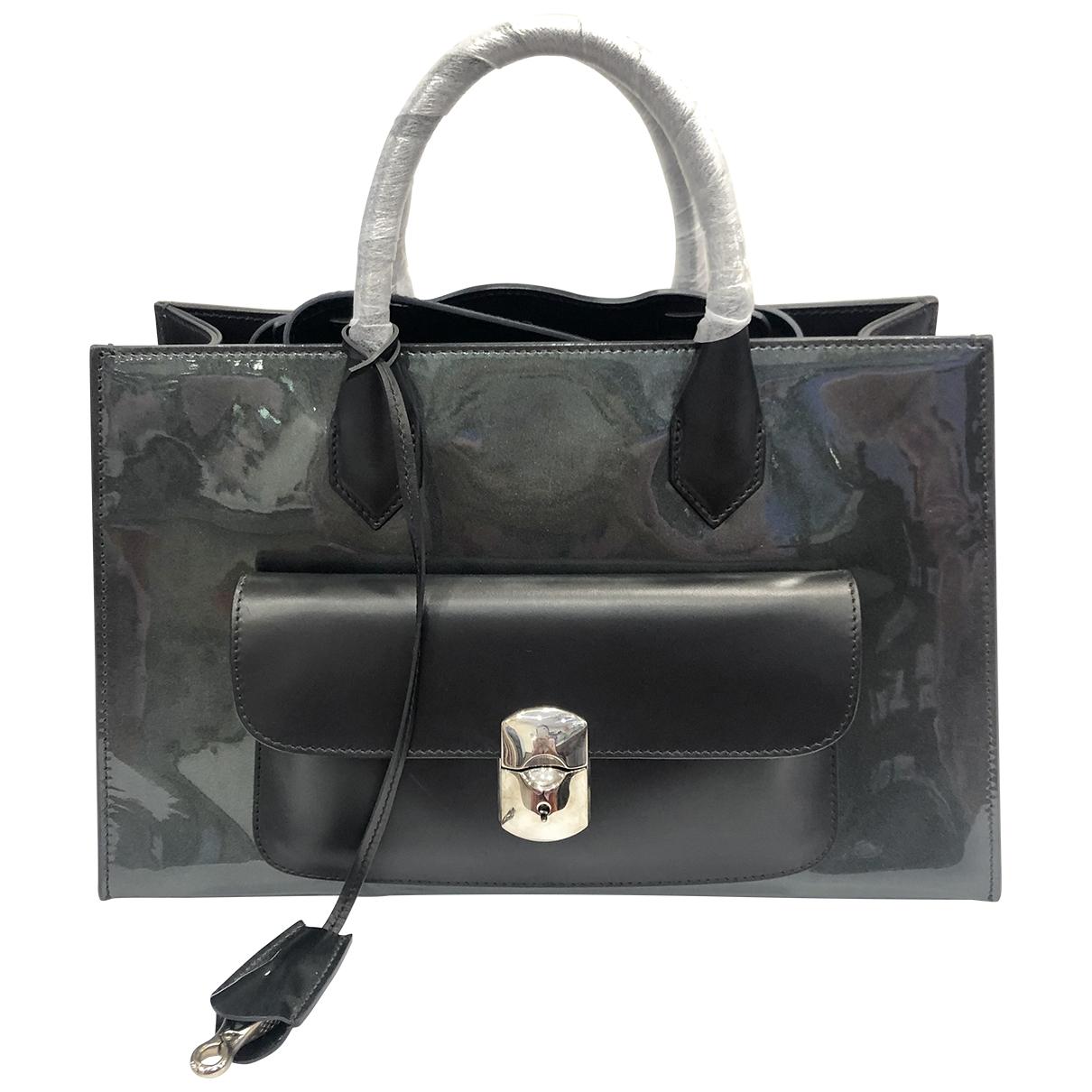 Balenciaga \N Handtasche in  Grau Lackleder