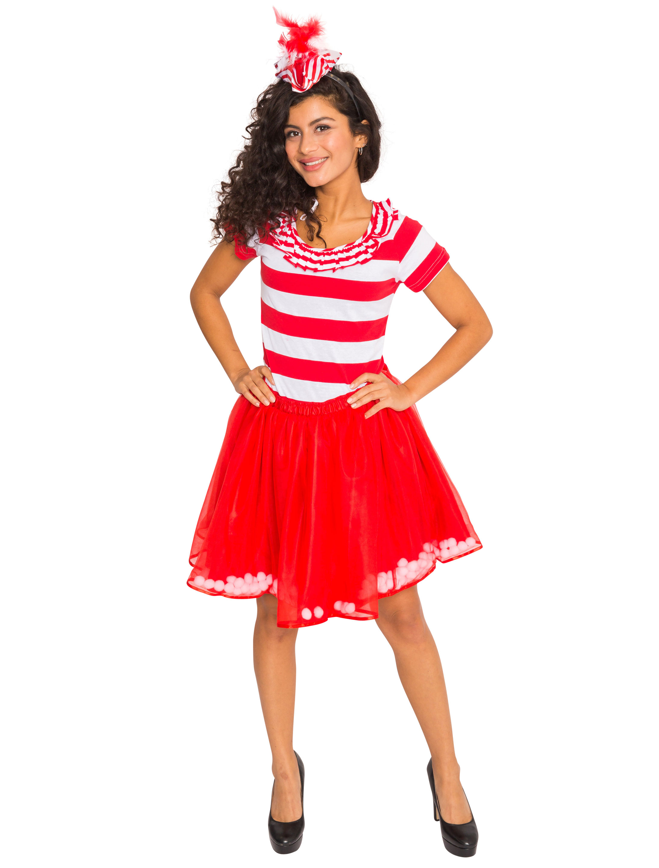 Petticoat mit 120 Pompons Damen rot