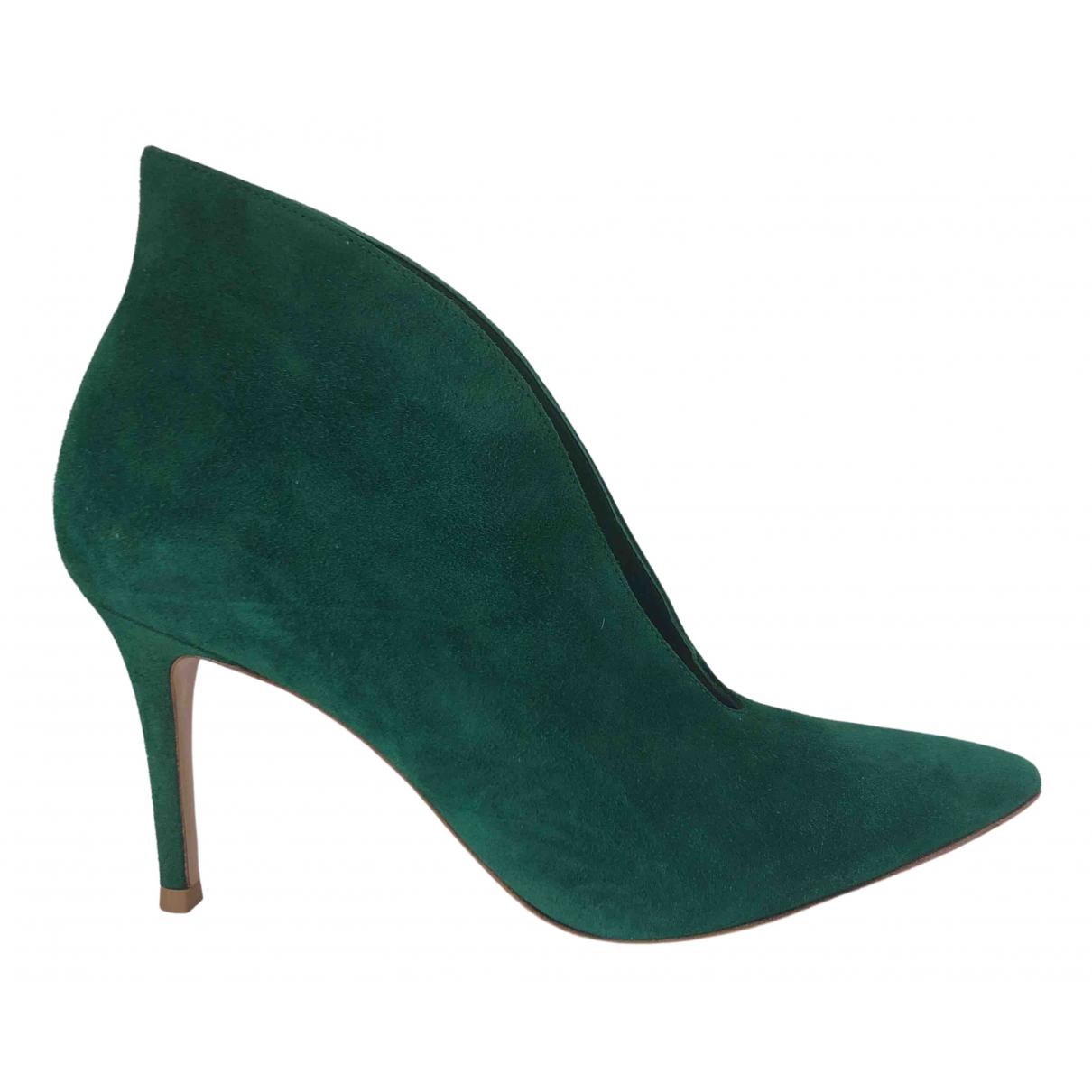Gianvito Rossi N Green Suede Heels for Women 36 EU