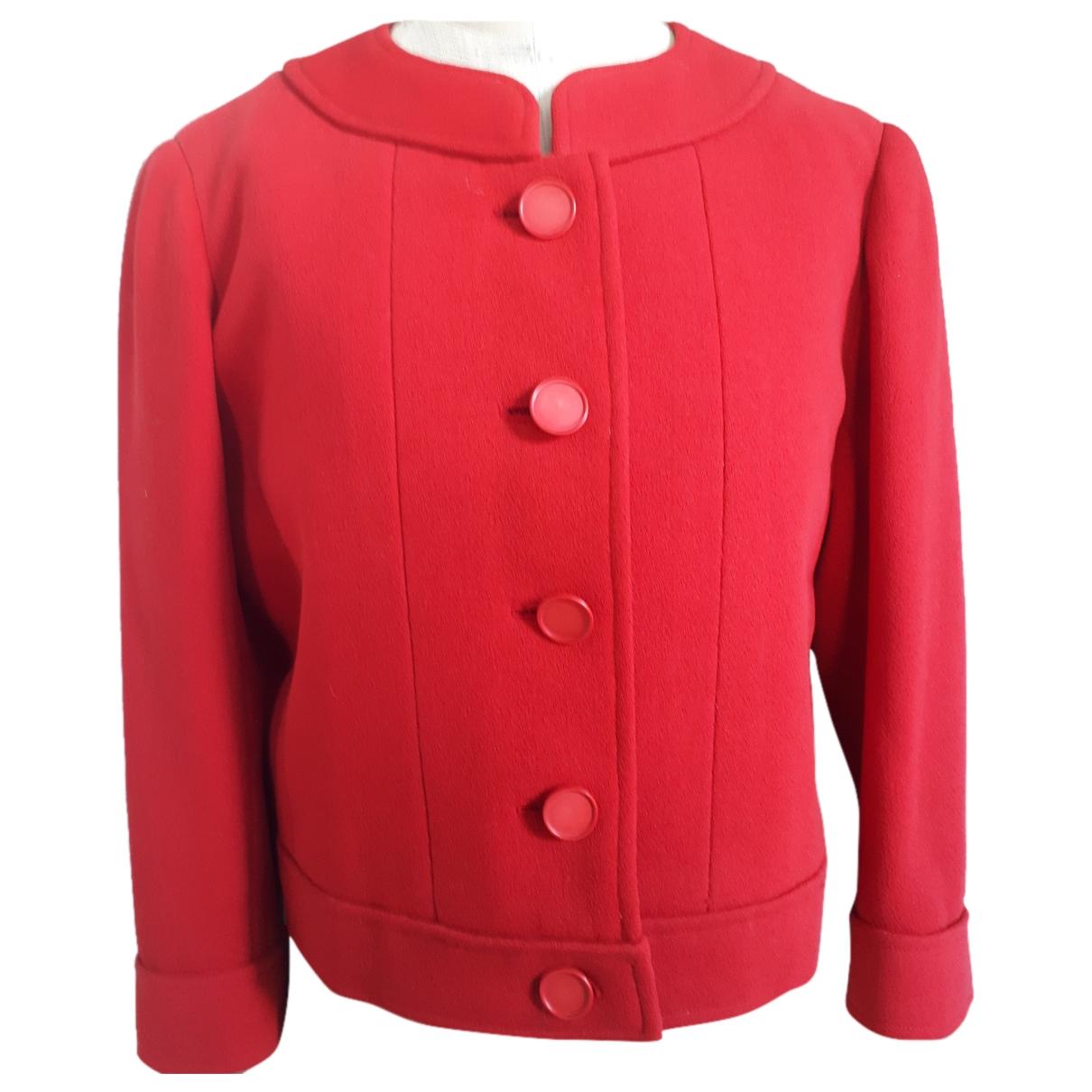 Nina Ricci - Veste   pour femme en laine - rouge