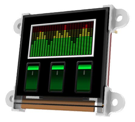 4D Systems 1.5in White Passive matrix OLED Display 128 x 128pixels Matrix Serial Interface