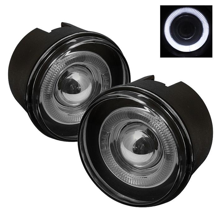 Spyder Auto FL-P-JGC05-HL-SM Smoke Halo Projector Fog Lights with Switch with Switch Mitsubishi Raider 06-09
