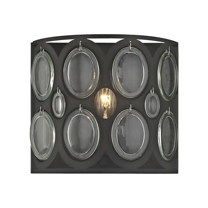 81120/1 Serai 1 Light Vanity in Oil Rubbed Bronze with Clear