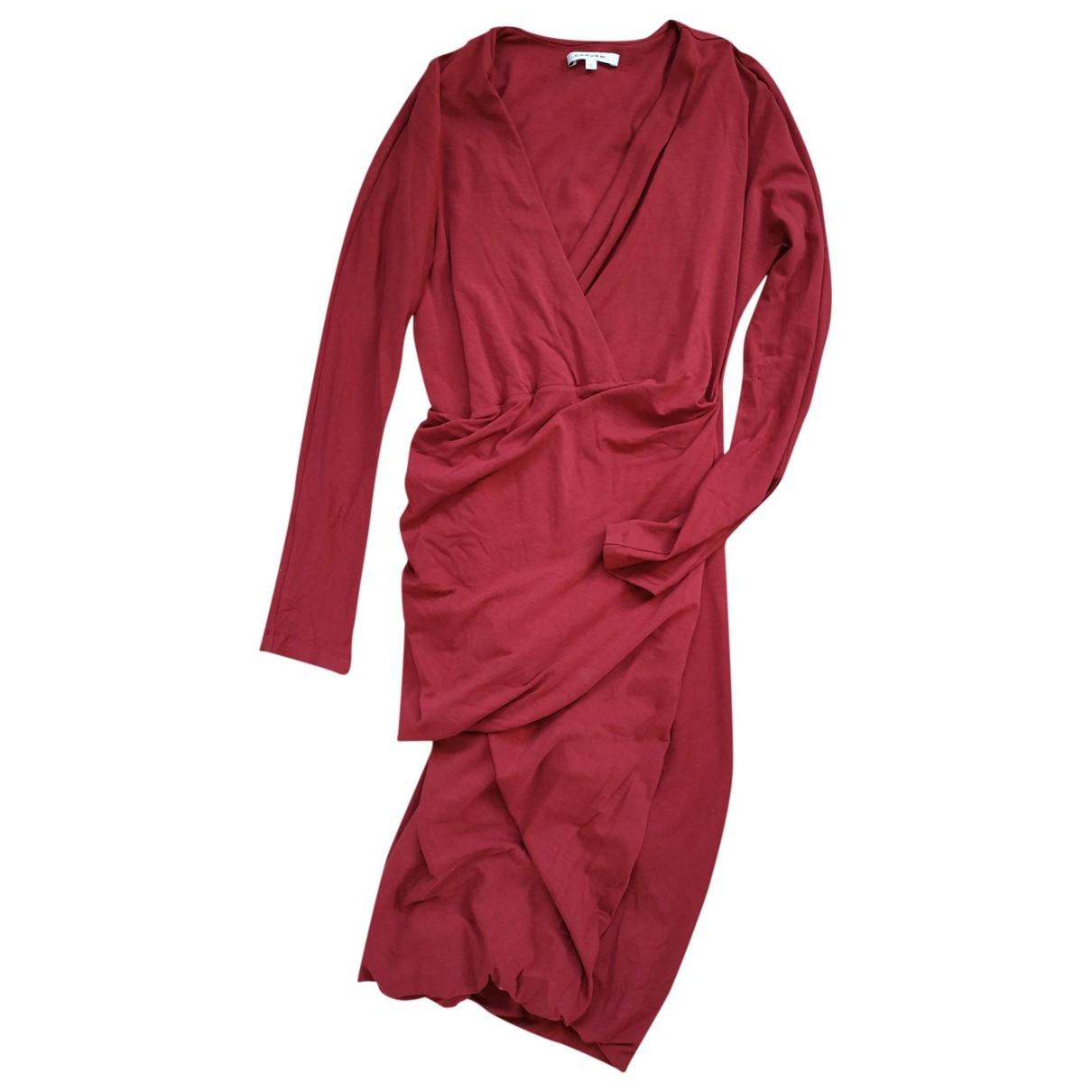 Carven \N Red Cotton - elasthane dress for Women L International