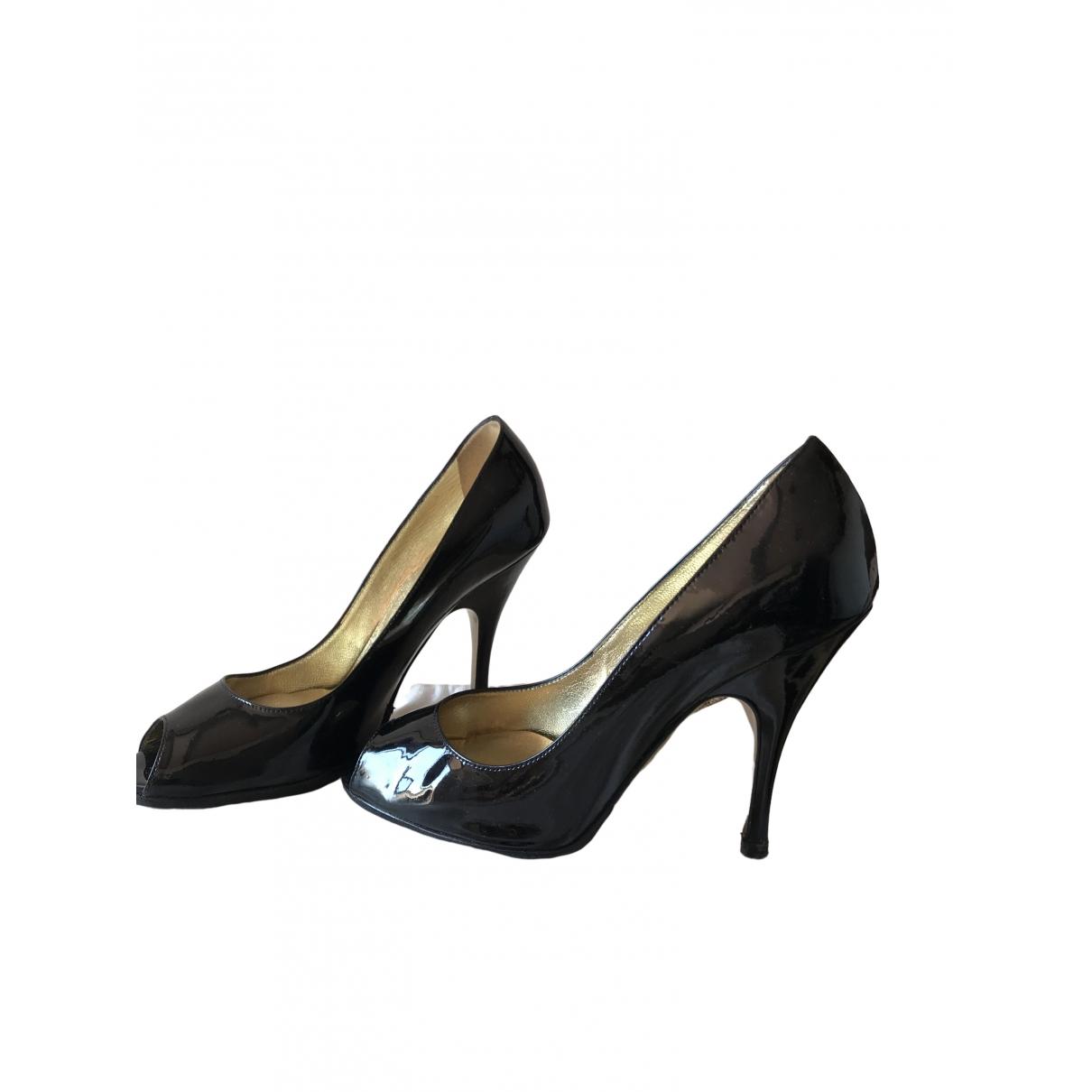 D&g \N Black Leather Heels for Women 37 EU