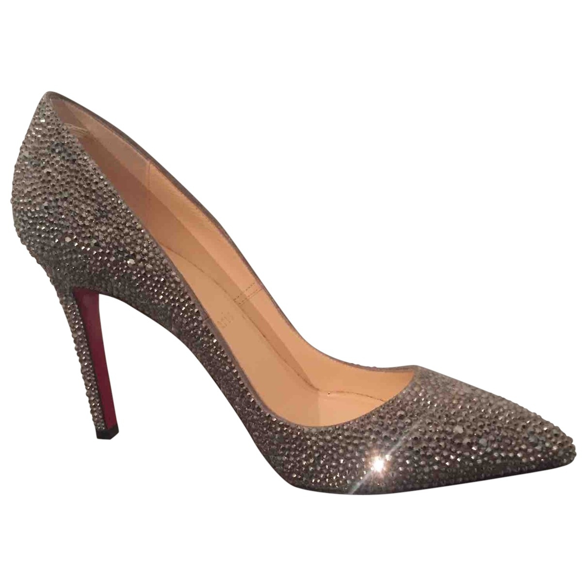 Christian Louboutin \N Silver Leather Heels for Women 38.5 EU