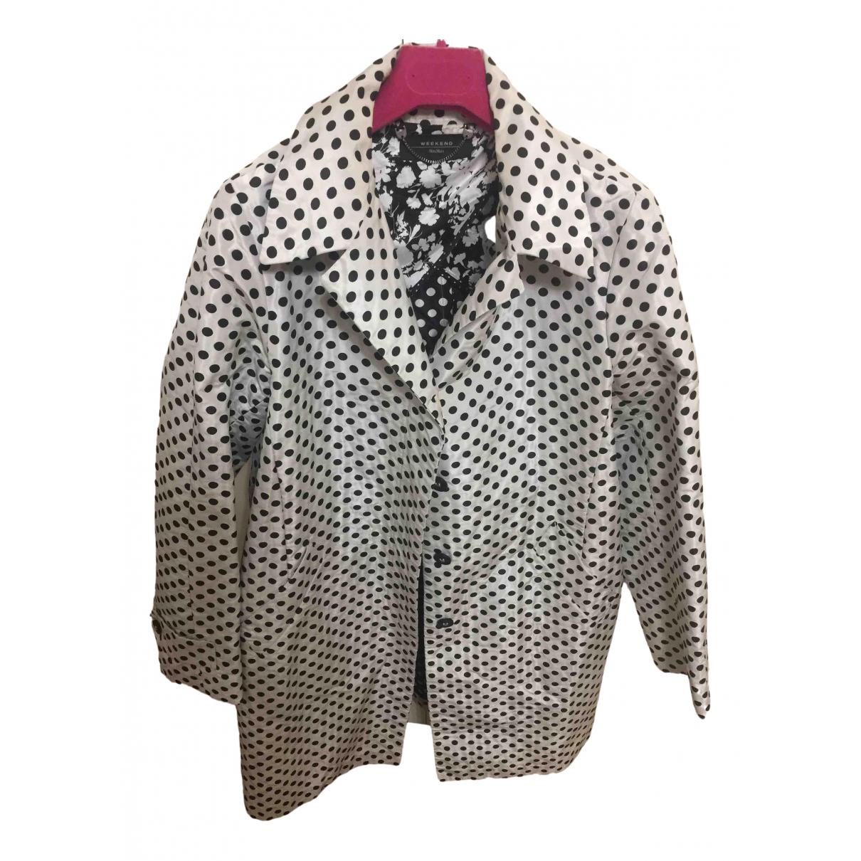 Max Mara Weekend - Manteau   pour femme en coton - blanc