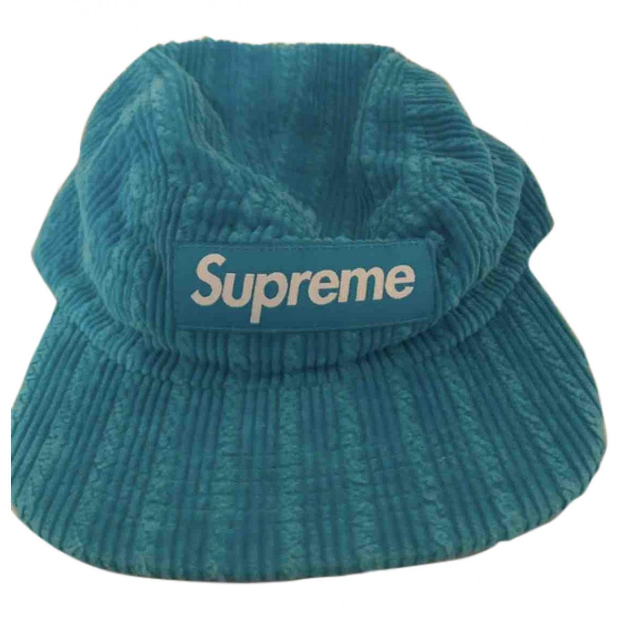 Supreme - Chapeau & Bonnets   pour homme en toile - bleu