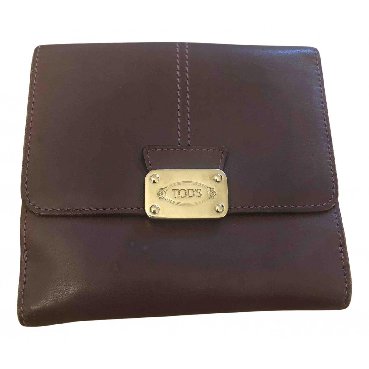 Tods \N Portemonnaie in  Lila Leder