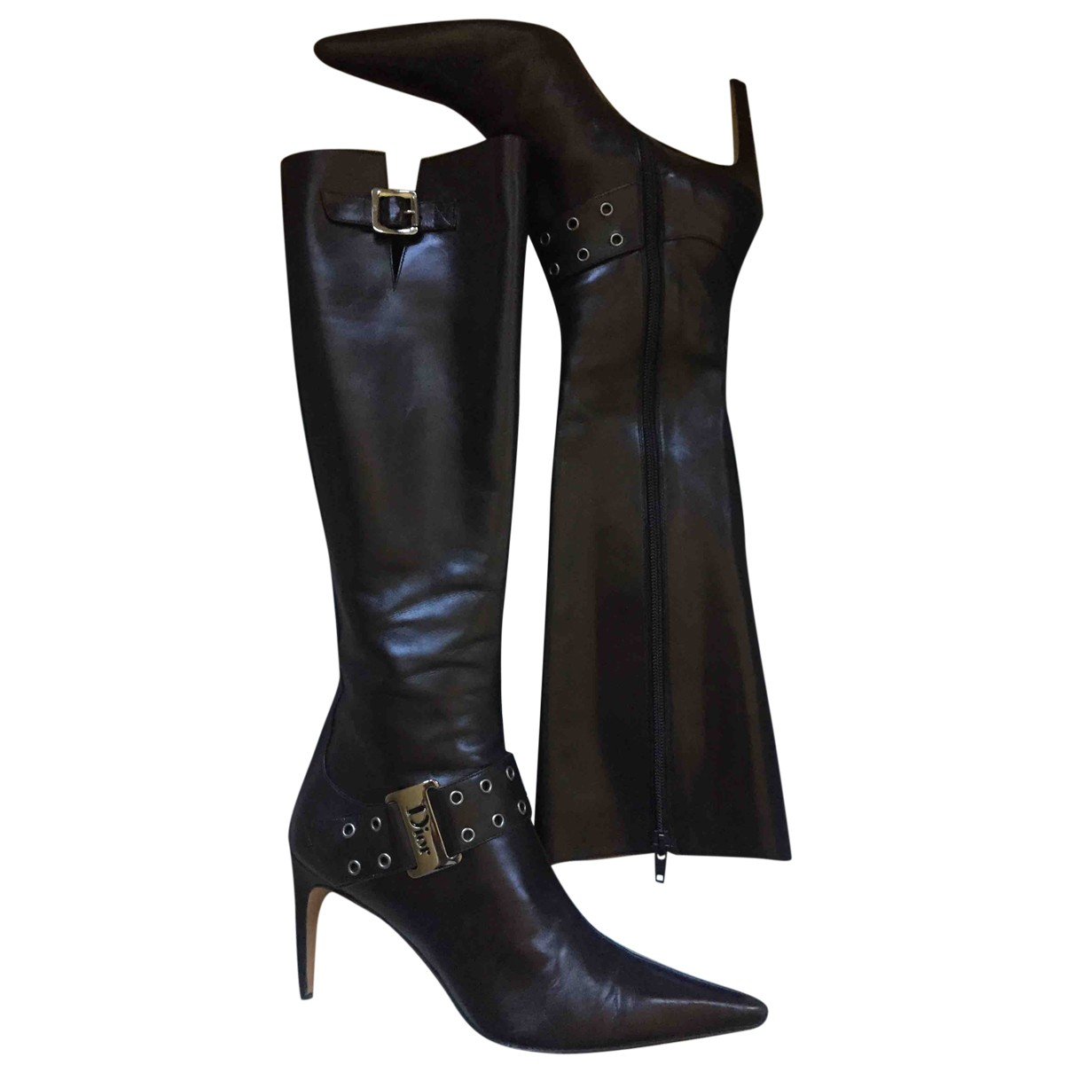 Dior \N Black Leather Boots for Women 37 IT