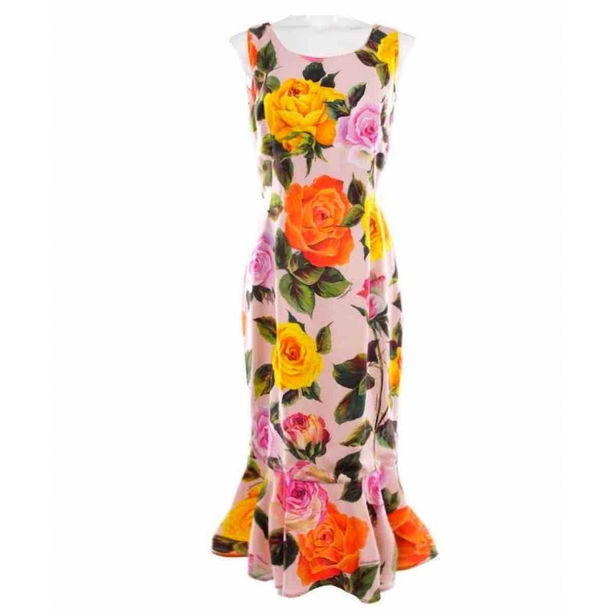 Dolce & Gabbana \N Multicolour Silk dress for Women 44 IT