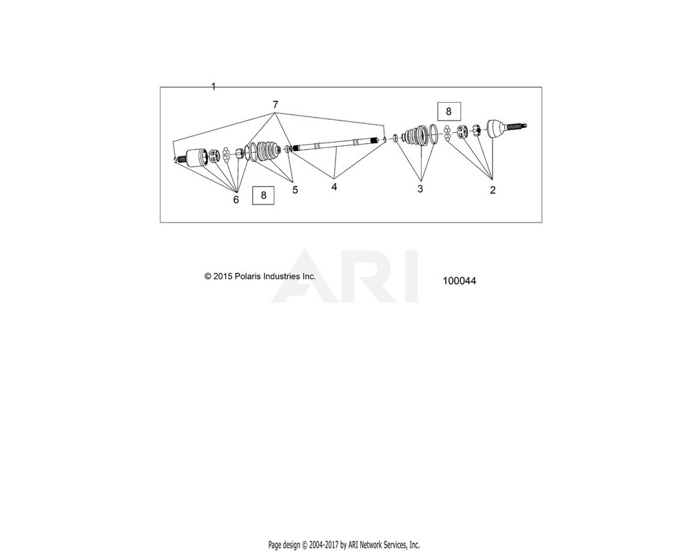 Polaris OEM 2205804 KIT, BOOT, INNER   [INCL. CLAMPS, BOOT, GREASE]
