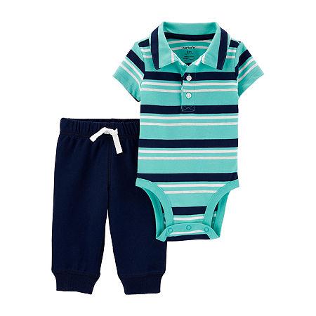 Carter's Baby Boys Bodysuit Set, 12 Months , Blue