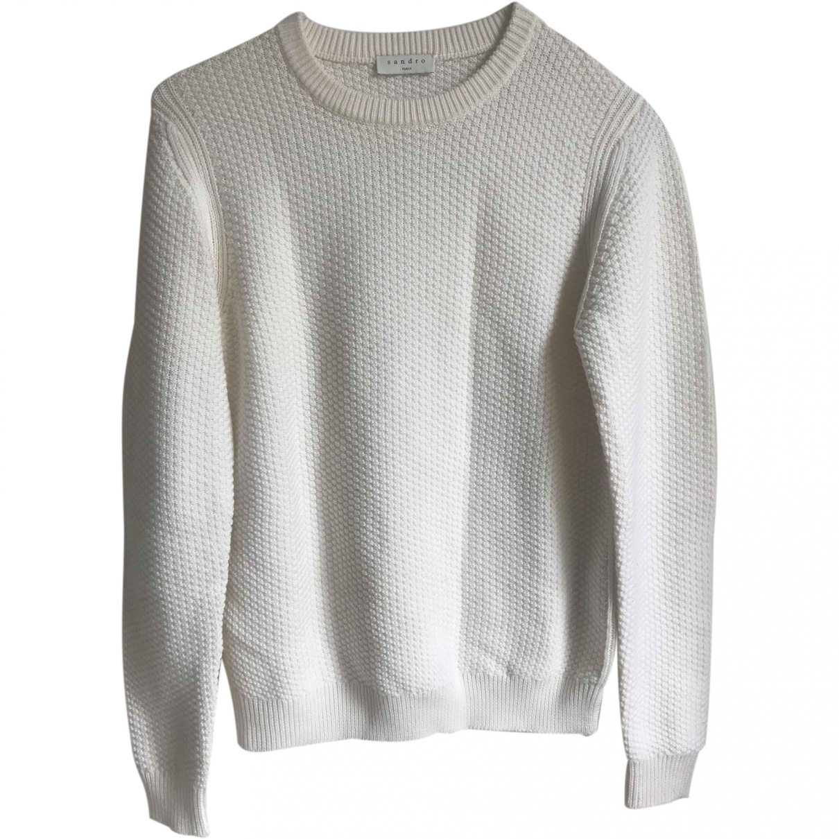 Sandro - Pull   pour femme en laine - blanc