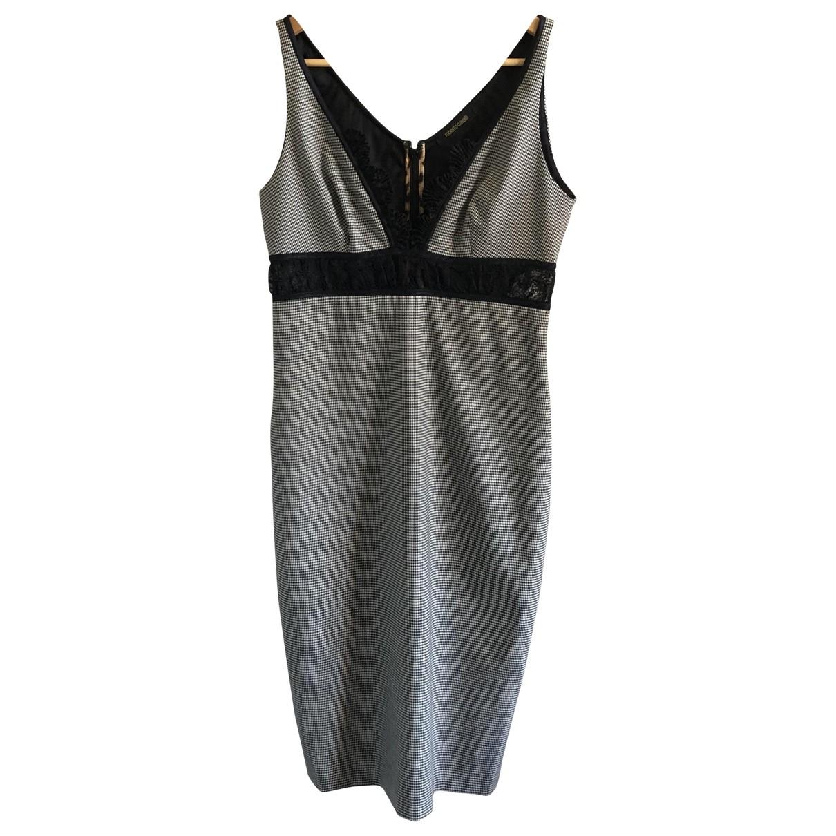 Roberto Cavalli \N Black Wool dress for Women 42 IT