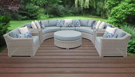 Coast Collection COAST-08e-SPA 8-Piece Patio Set 08e with 1 Armless Chair   2 Cup Table   1 Round Coffee Table   2 Curved Armless Chair   2 Club