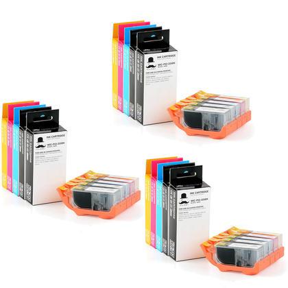 Compatible Canon PIXMA MG5320 Ink Cartridges PGBK/BK/C/M/Y 15-pack Combo by Moustache