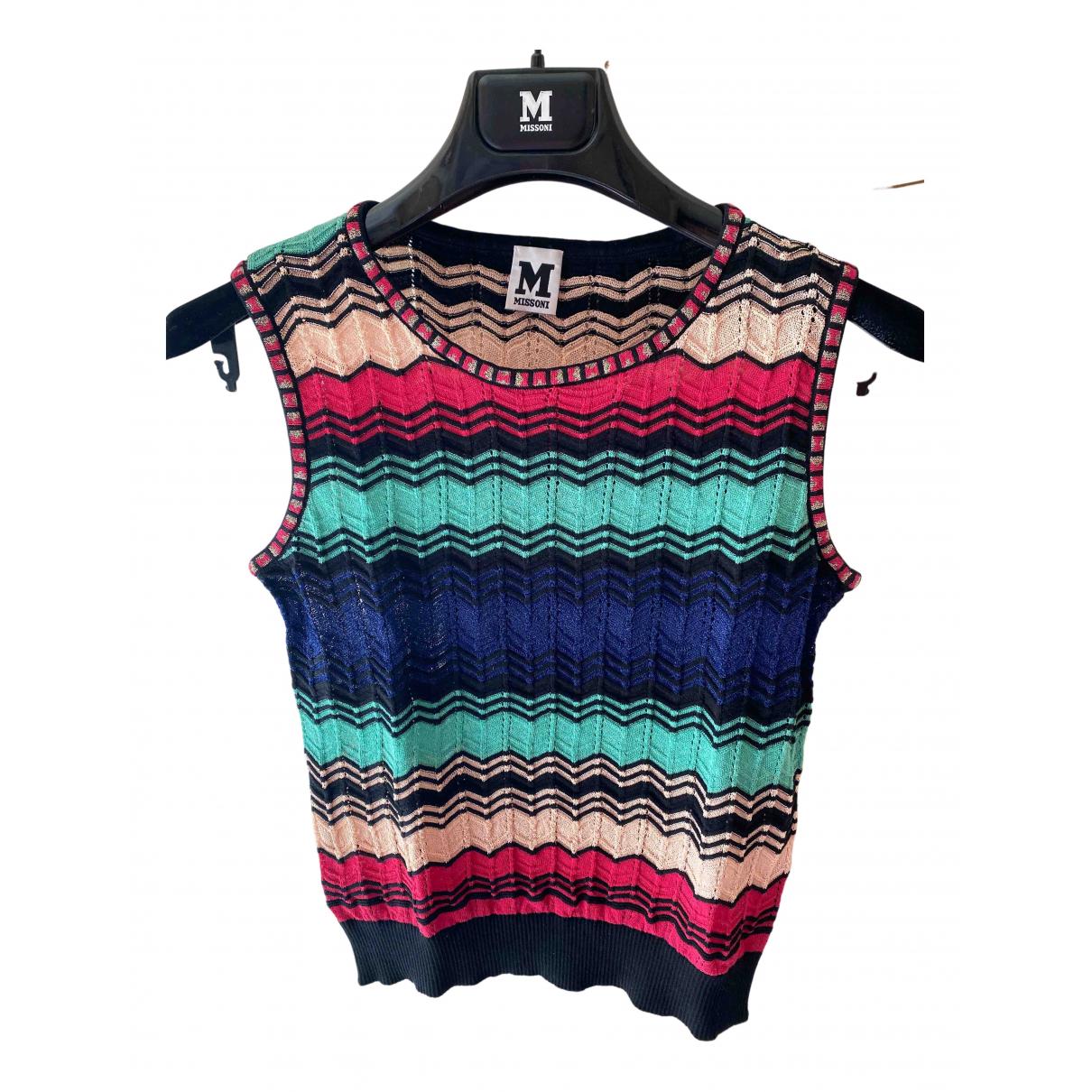 M Missoni - Top   pour femme en coton - multicolore