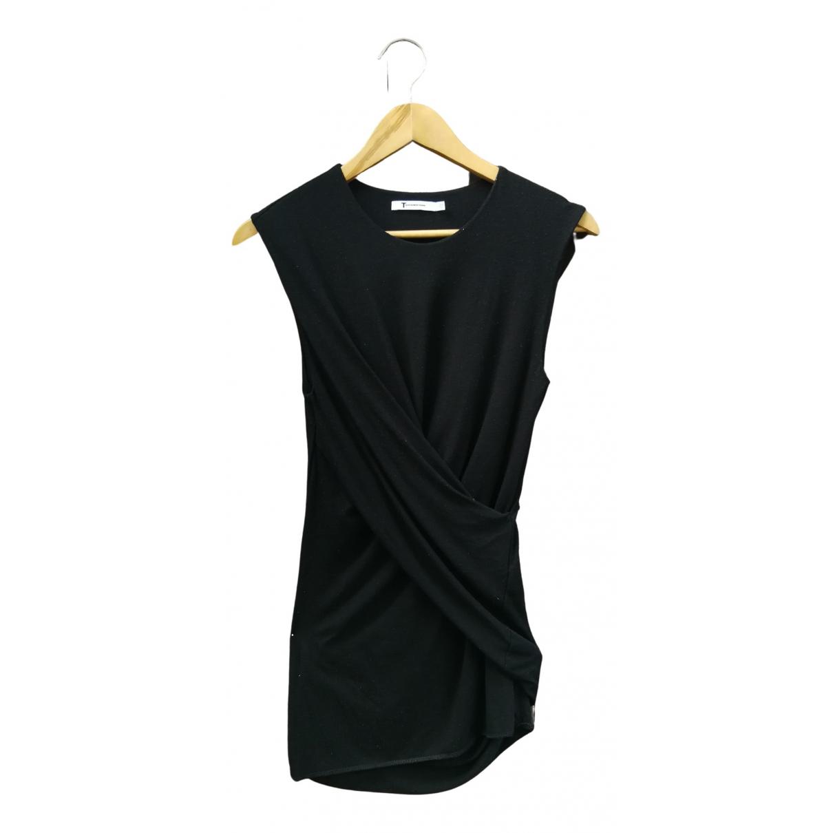 T By Alexander Wang - Top   pour femme en coton - noir