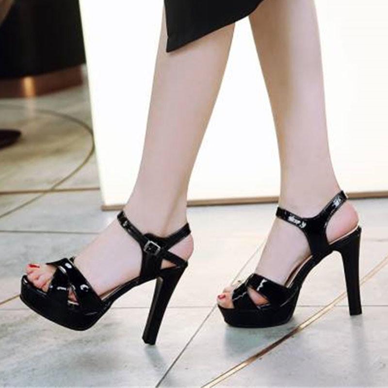 Ericdress Open Toe Buckle Chunky Heel Low-Cut Upper Sandals