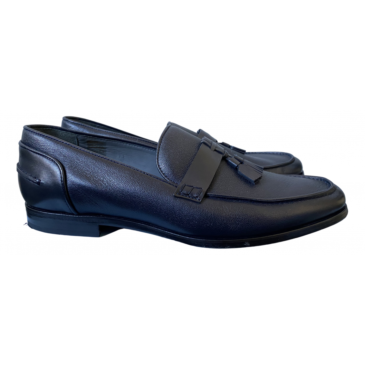 Lanvin \N Blue Leather Flats for Men 11 US