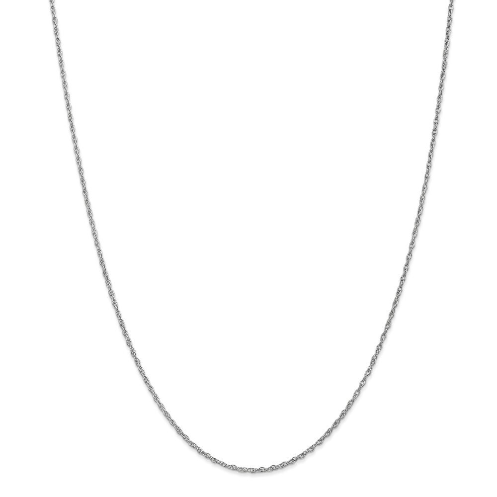 Curata 14k White Gold Solid 1.3mm Heavy Baby Rope Chain Necklace (Lobster) Options 16 18 20 24 (24 Inch)
