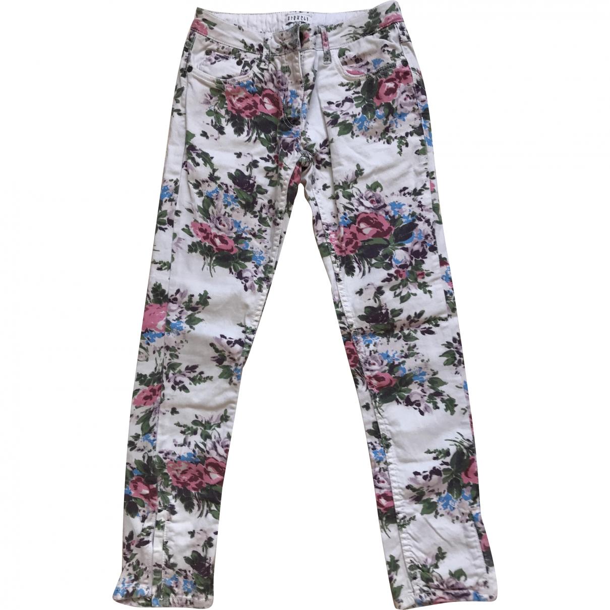 Claudie Pierlot \N Multicolour Cotton Trousers for Women 34 FR