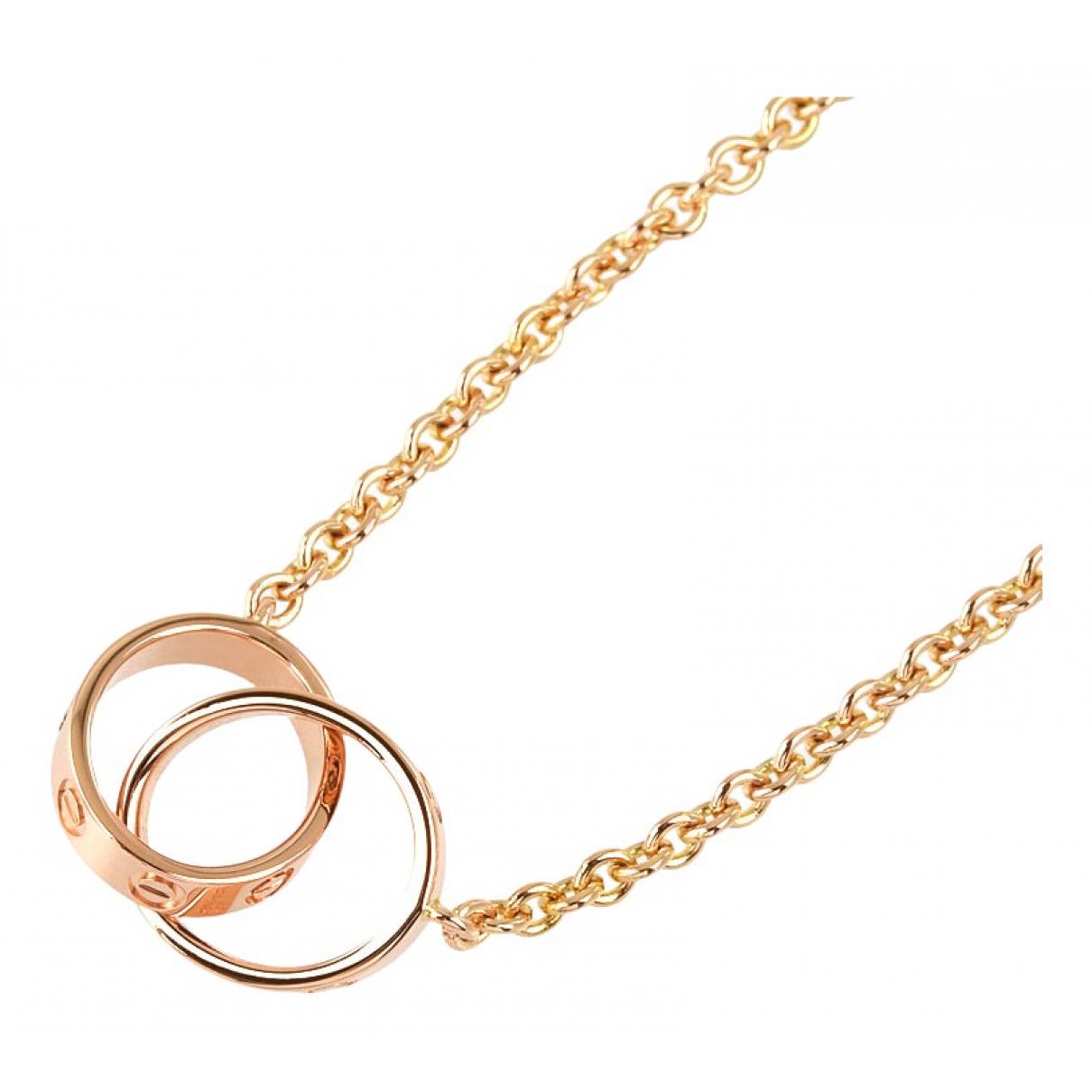 Collar Love de Oro rosa Cartier