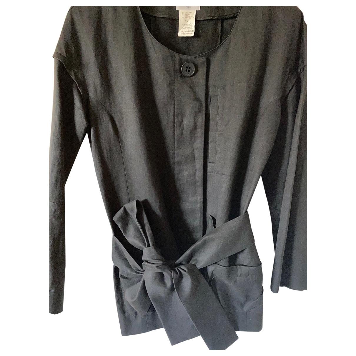 Sonia Rykiel \N Black Linen jacket for Women 40 FR