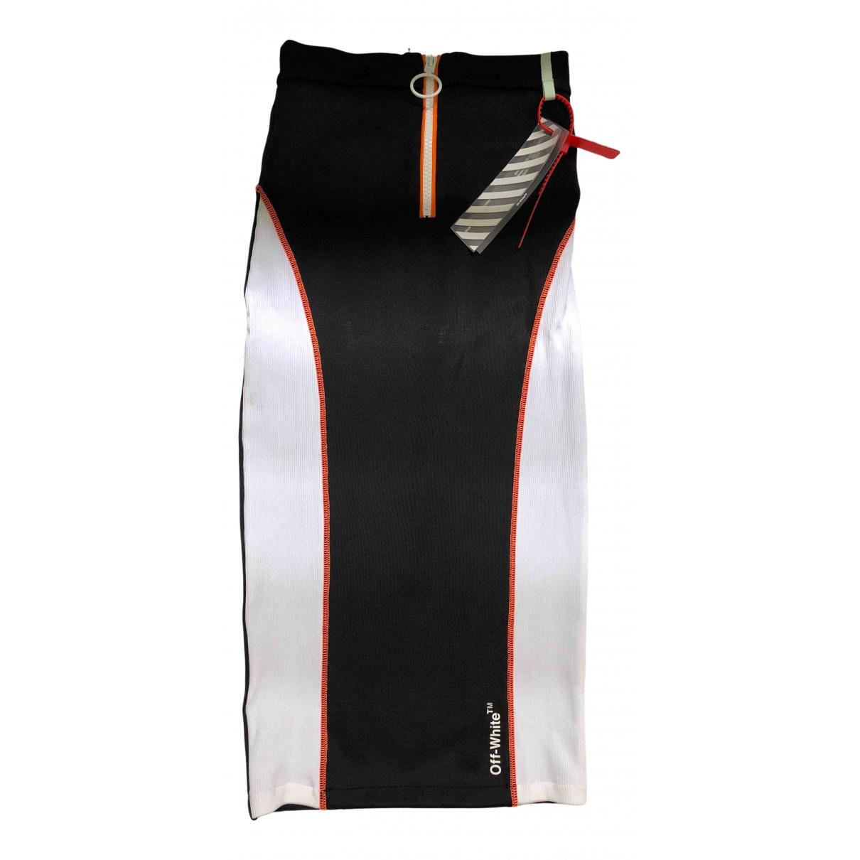 Off-white - Jupe   pour femme en caoutchouc - noir