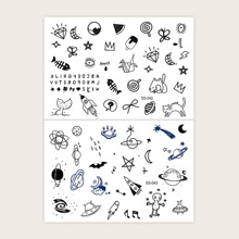 Mix Pattern Tattoo Sticker 2Sheets