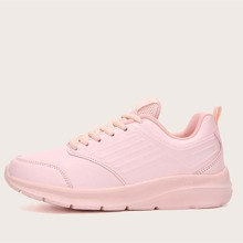 Minimalist Lace-up Front Low Top Sneakers