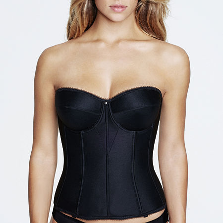 Dominique Juliet Underwire Bustier-8950, D , Black