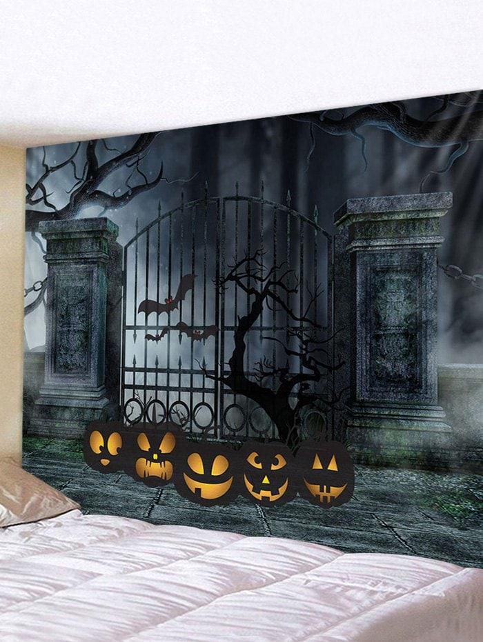 Halloween Pumpkin Cemetery Print Wall Hanging Tapestry