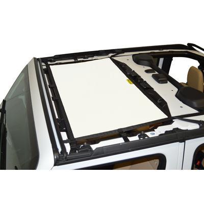 DirtyDog 4x4 Front Sun Screen (White) - JL4S18F1WH