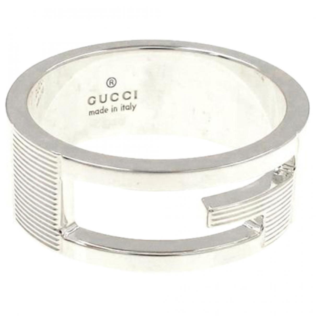Gucci N Silver Silver ring for Women 58 EU