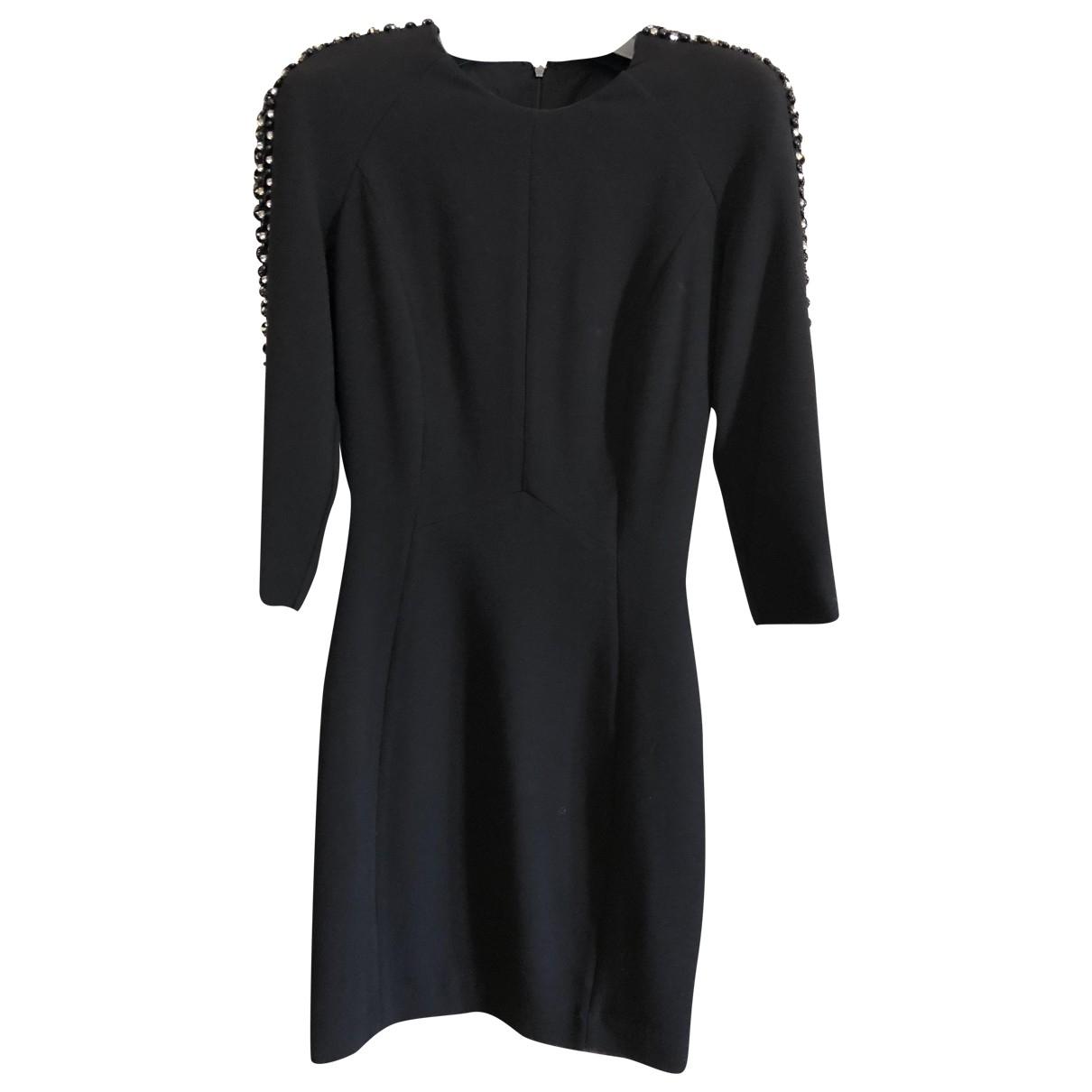 Mango - Robe   pour femme en coton - elasthane - noir
