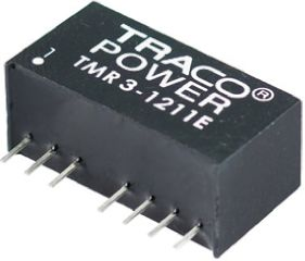 TRACOPOWER TMR 3E 3W Isolated DC-DC Converter Through Hole, Voltage in 4.5 → 9 V dc, Voltage out ±12V dc