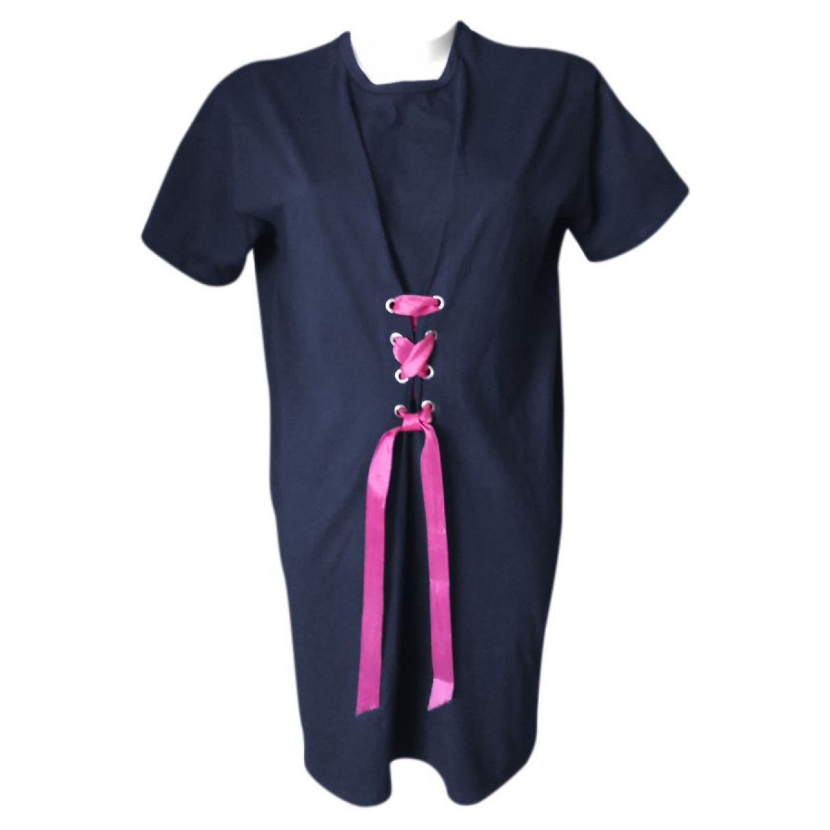 Stefanel \N Kleid in  Blau Baumwolle