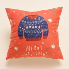 Christmas Sweater Print Cushion Cover Without Filler