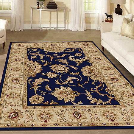 Como Abstract Traditional Oriental Area Rug, One Size , Blue