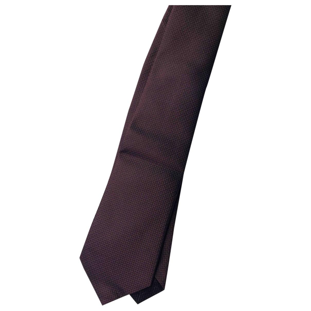 Alfred Dunhill \N Burgundy Silk Ties for Men \N